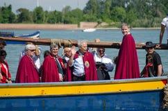 Religijni urzędnicy, Wenecja festiwal Zdjęcie Stock