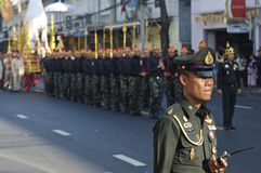 Religijny korowód w Tajlandia Zdjęcie Royalty Free