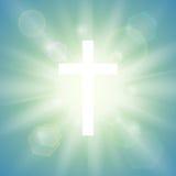 Religijny tło z bielu krzyżem royalty ilustracja