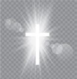 Religijny trzy krzyża z słońce promieniami ilustracja wektor