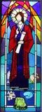 Religijny witrażu okno Zdjęcia Royalty Free