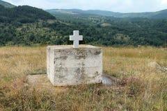 Religijny zabytek w małej wiosce w Macedonia obrazy stock