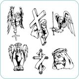 Religión cristiana - ejemplo del vector. Imagen de archivo libre de regalías