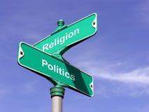 Religião CONTRA a política Fotografia de Stock Royalty Free