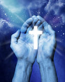 Religion übergibt Kreuz Lizenzfreie Stockfotos