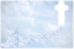 Religion. Cross. clouds concept background Royalty Free Stock Images