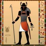 Religion of Ancient Egypt. Khepri is a god in ancient Egyptian religion. Scarab God stock illustration