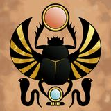 Religion of Ancient Egypt. Scarab in ancient Egypt. The symbol of the god Khepera vector illustration