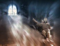 Religion - ange et ciel Photographie stock