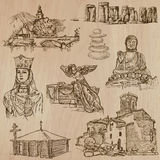 Religion around the World - freehand vectors, pack Stock Photo
