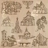 Religion around the World - freehand vectors, pack stock illustration