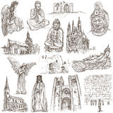 Religion around the World - An hand drawn collection Royalty Free Stock Image
