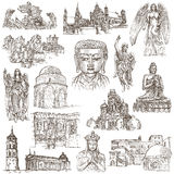 Religion around the World - An hand drawn collection Royalty Free Stock Photos