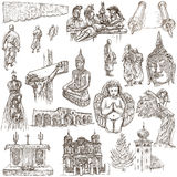 Religion around the World - An hand drawn collection Royalty Free Stock Images