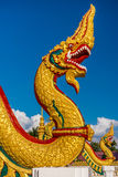 The religion art of Naga statue in Thailand Buddhist temple Stock Image