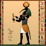 Religion av forntida Egypten stock illustrationer