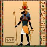 Religion av forntida Egypten royaltyfri illustrationer