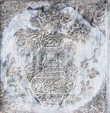 Religion bouddhiste murale. Temple thaïlandais à la zone orientale de thaïlandais Images libres de droits