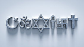 Religion can coexist world peace Stock Photography