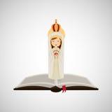 Religion catolic virgin mary immaculate haert bible design Stock Photos