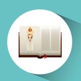 Religion catolic virgin mary immaculate haert bible design Stock Images