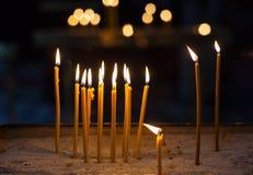 Religion Ceremony Candle Stock Photo