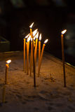 Religion ceremony candle Stock Photo