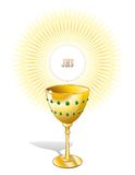 Religion Chalice Cup and Host. A GOlden Cup with Host Royalty Free Stock Photo