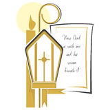 Religion. Christian religious symbols to announce their First Communion and Confirmation Royalty Free Stock Image