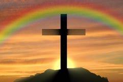Free Religion Christianity. Cross Silhouette Royalty Free Stock Photos - 76458138