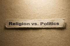 Religion contre Politcs Photos libres de droits