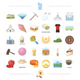 Religion, cooking, sport and other web icon in cartoon style. ritual, mourning icons in set collection. Religion, cooking, sport and other  icon in cartoon Royalty Free Stock Image