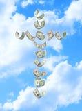 Religion croisée d'argent photographie stock