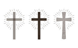 Religion cross icon or symbol. Vector illustration Royalty Free Stock Photography