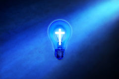 Religion Cross Light Bulb royalty free stock images