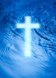 Religion Cross And Water Stock Photography