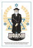 Religion de judaïsme et rabbin juif illustration libre de droits