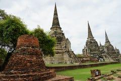 Religion de voyage de Bouddha de bouddhisme de temple d'Ayutthaya Thaïlande de ville Photo stock