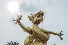 Religion dragon. Sky landmark Asia sky power Royalty Free Stock Image