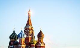 Religion för kyrka för Moskvastadsryss ortodox Arkivbild