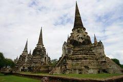 Religion för lopp för Buddha för buddism för stadsAyutthaya Thailand tempel Arkivbilder
