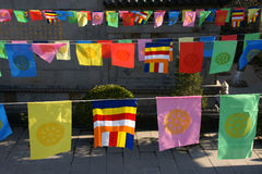 Religion flags. The colorful religion flags in china Royalty Free Stock Photography