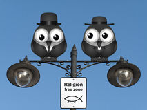 Religion Free Zone Stock Image