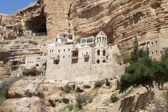 Religion. Greek Christian orthodox monastery of St. George, alog the canyon of Wadi-Qelt, Israel. St. George Orthodox Monastery, or Monastery of St. George of Stock Images