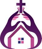 Religion hands logo Stock Photo