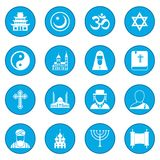 Religion icon blue. Religion simple icon blue isolated vector illustration Royalty Free Stock Photos