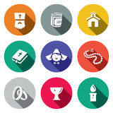 Religion icon collection Royalty Free Stock Photography