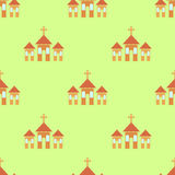 Religion Icon Seamless Pattern Stock Photography