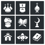 Religion Icon set Stock Photography