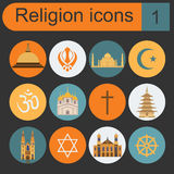 Religion icon set Stock Image